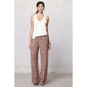Anthro Lilka Pummelo Ikat Wide Leg Pants XS